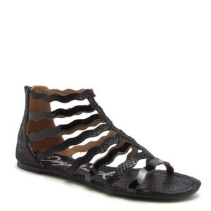 Shoes - Black Gladiator Sandal